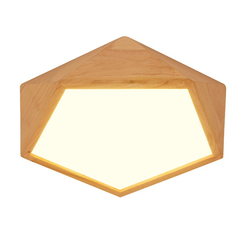 Wood LED Indoor Ceiling Light Fixture
