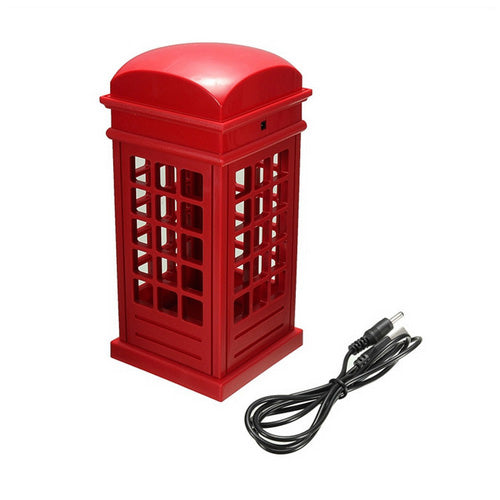 Retro London Telephone Booth LED Table Lamp