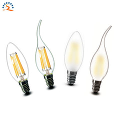 LED Candle Lamp E14 C35 B10 2w 4w 6w Flame Frosted Retro Edison LED Filament Bulb light 220v