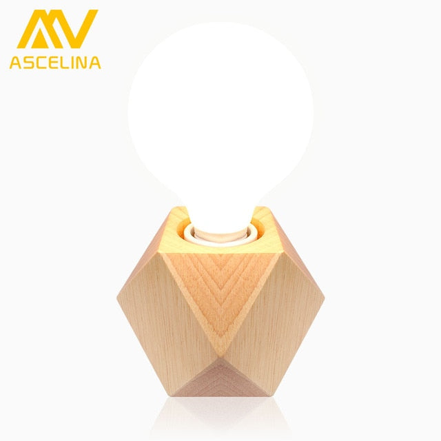 Simplistic Wooden LED Table Lamp