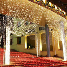 4.5M x 3M 300 LED Home Outdoor Holiday Christmas Decorative Wedding xmas String Fairy lights Curtain Garlands Strip Party Lights