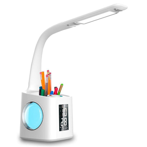 Led Desk Lamp with USB Charging Port and Pen Holder