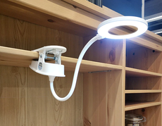 Rechargeable Ring Lamp LED Light with Touch Switch and Clip