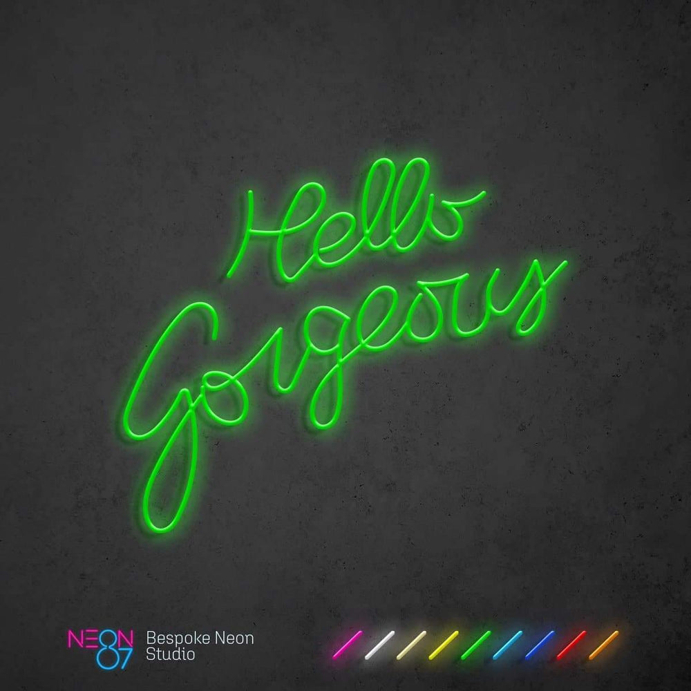 Load image into Gallery viewer, Hello Gorgeous LED Neon Light Sign