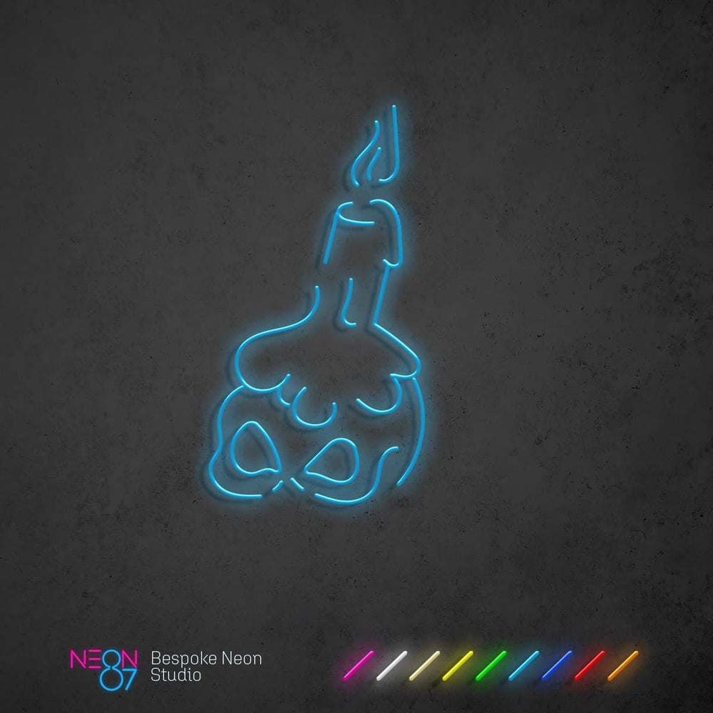 Load image into Gallery viewer, Skull Candle Neon Light Sign