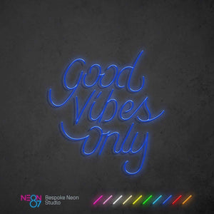 Load image into Gallery viewer, Good Vibes Only Neon Light Sign