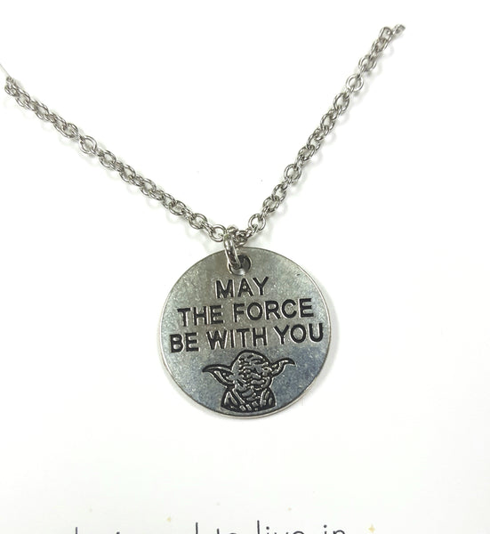 Hand Stamped Yoda Pendant - The Crooked Corner