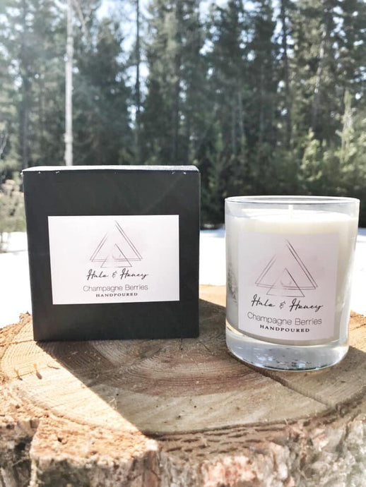 Champagne Berries Luxury Soy Candle - The Crooked Corner
