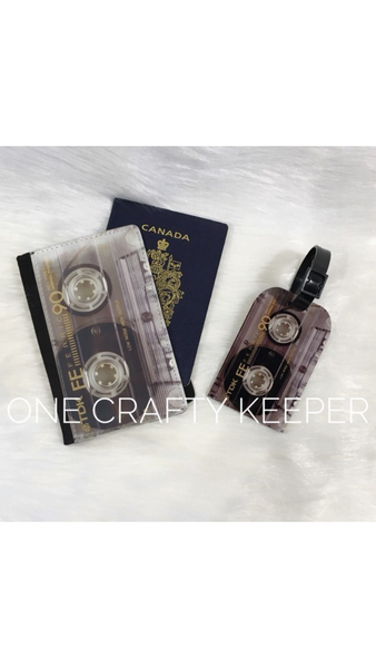 Cassette Passport Holder and Tag - The Crooked Corner