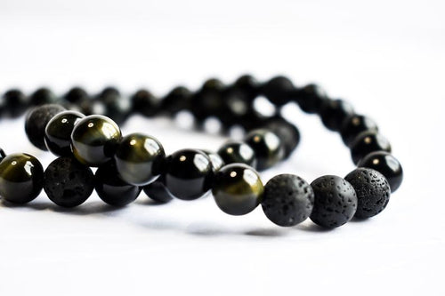Men's Blue Tigers Eye Diffuser Bracelet - The Crooked Corner