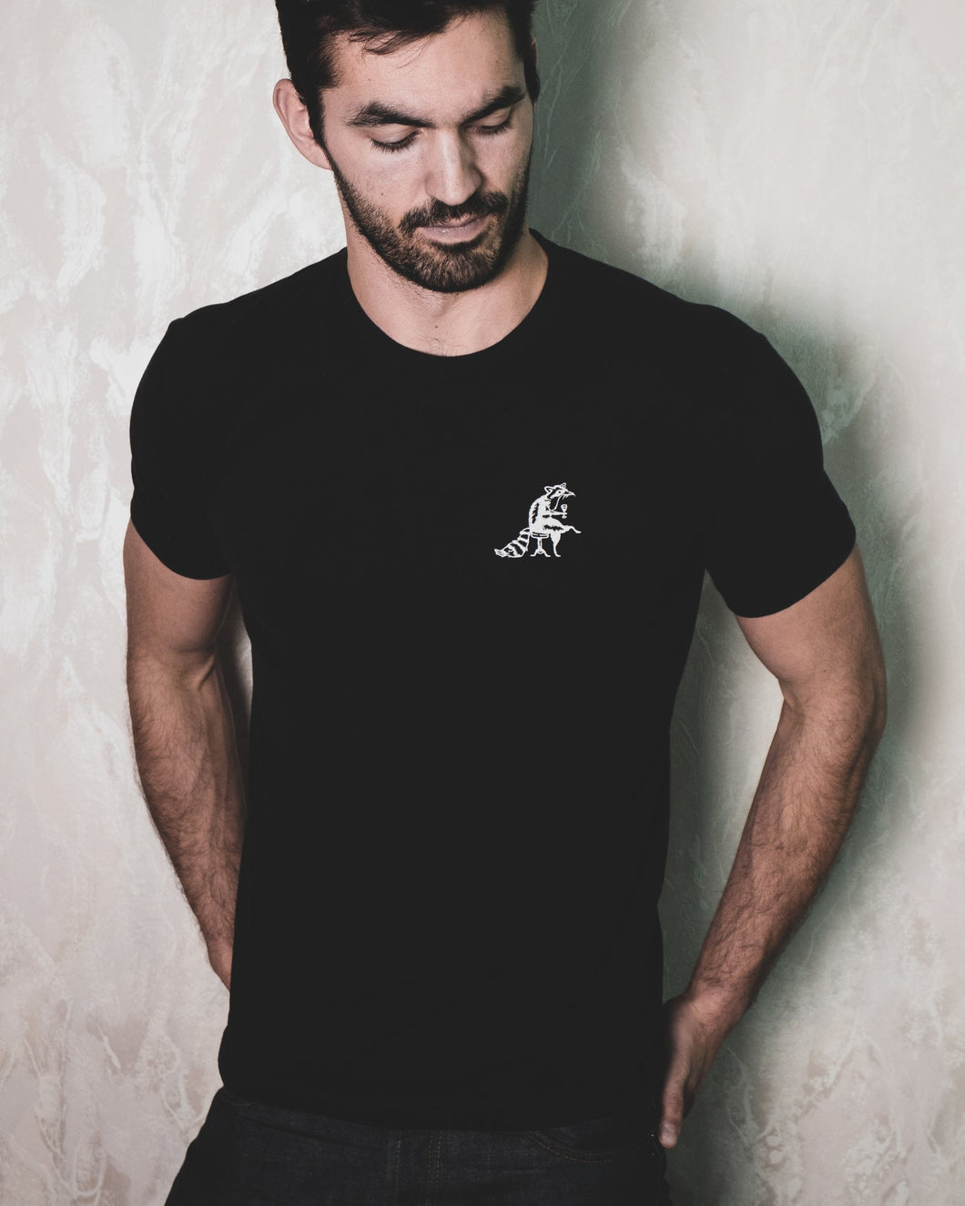 The Raccoon Unisex Embroidered Tee - The Crooked Corner