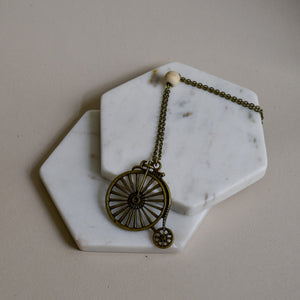 Brass Bicycle Necklace - The Crooked Corner