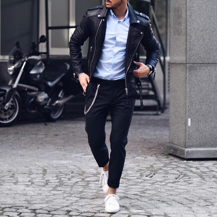 Leather Jacket Outfit Ideas | How To Wear Jackets For Men