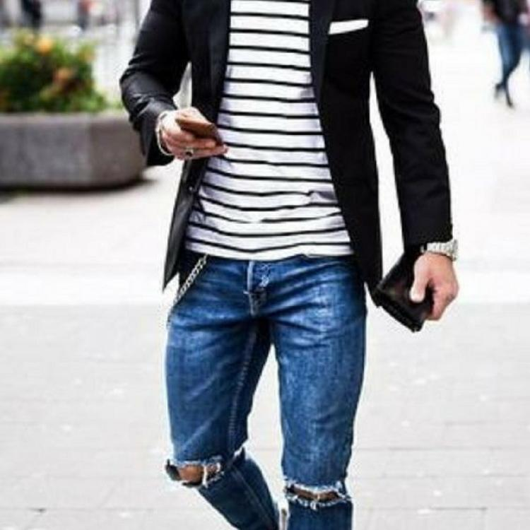 10 Coolest Ripped Jeans Outfit Ideas For Men