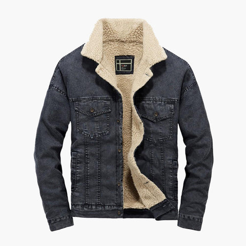 Men's Winter Pocket Button Jacket