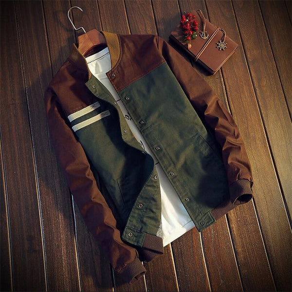 Casual Patchwork Jacket For Men