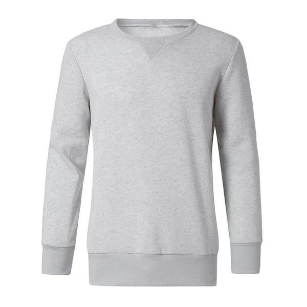 Men's O-Neck Casual Solid  Sweatshirt