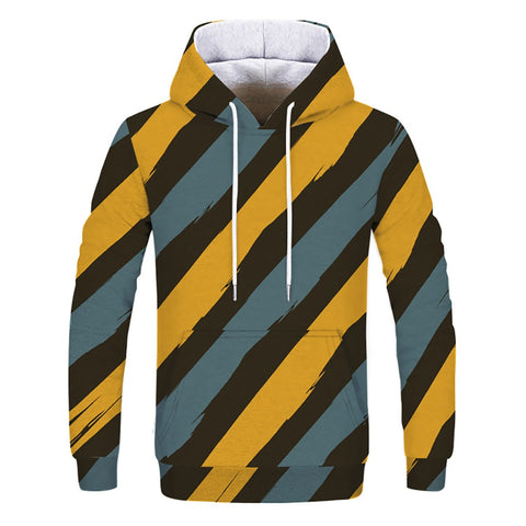 Men's Winter Printed Hooded Sweatshirt