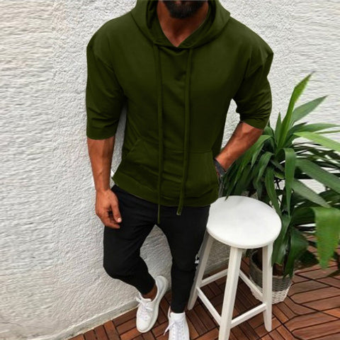 Men's Splicing  Button Pullover