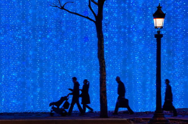 Champs Elysees in blue