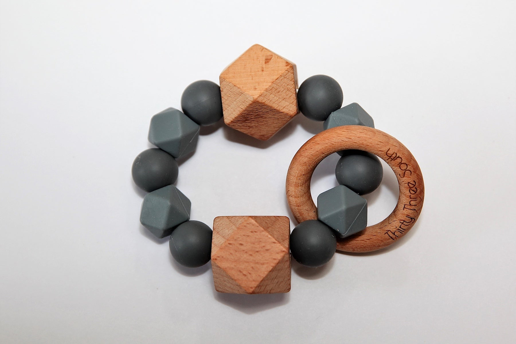 Thirty Three South Wooden Teethers Fez Slate