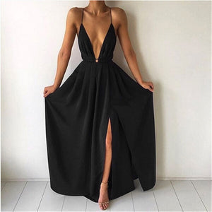 Sleeveless/Backless Long Dress
