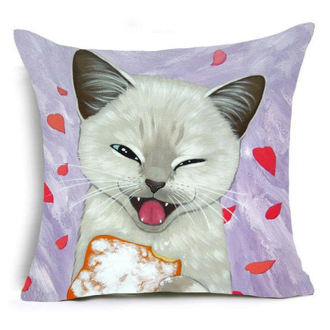Handmade 16 Colors Cat Polyester Pillow Covers