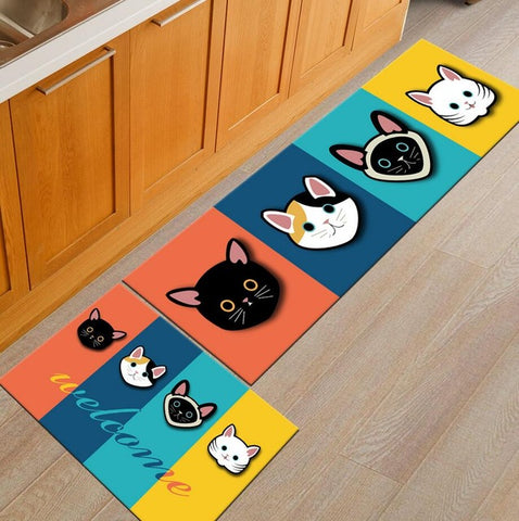 Handmade 7 Colors Welcome Cat Mats Anti-Slip