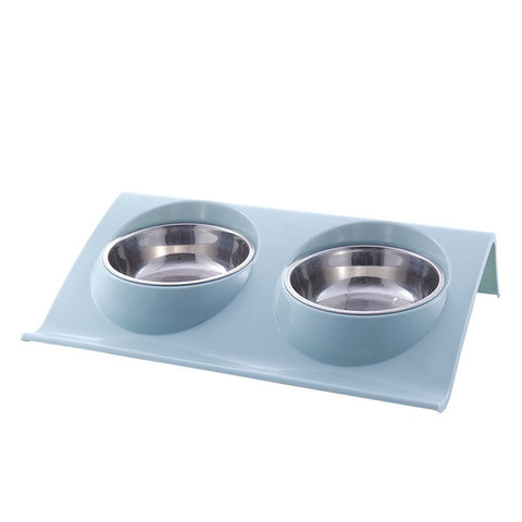 Stainless Steel Double Bowls for Cat and Kitty