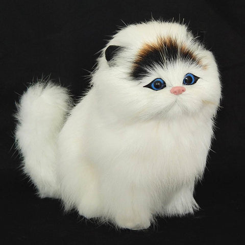 Handmade Big Simulation Plush Cat with Sound
