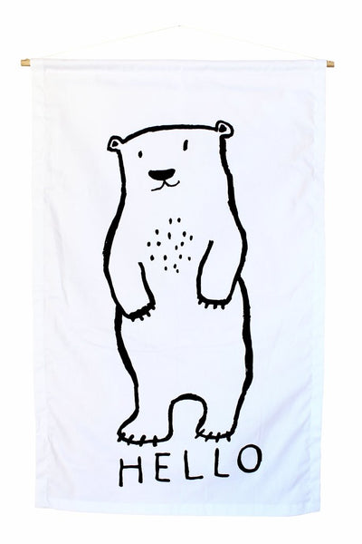 Henry + Co - Hello Polar Bear Wall Banner