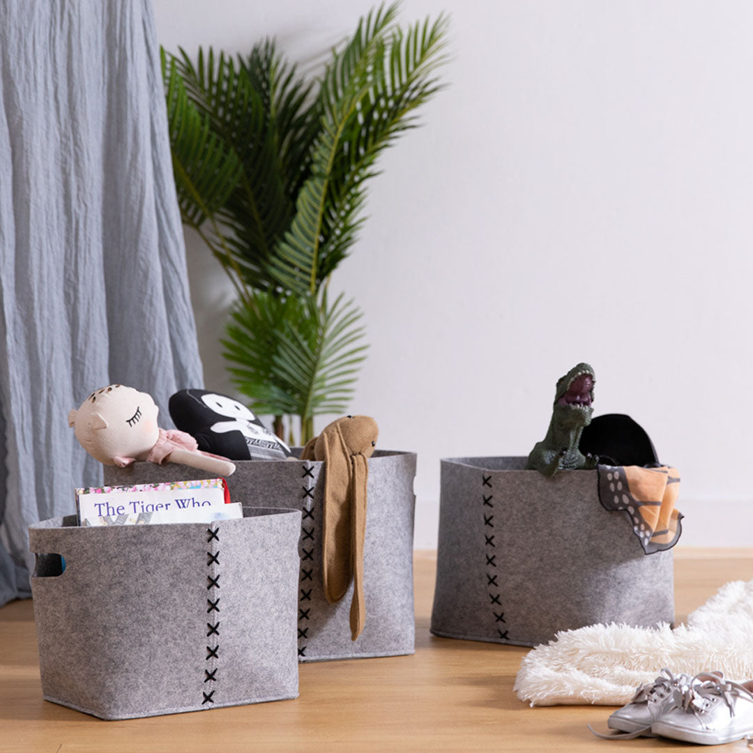 Felt Storage Baskets (Set of 3)