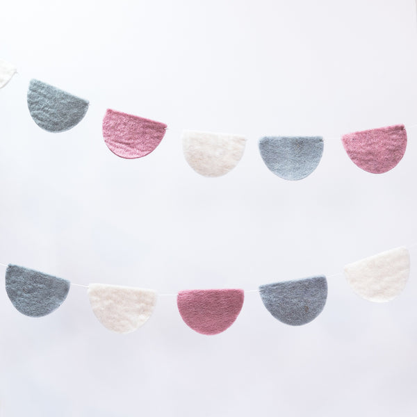 Sheepish - Felt Garlands - Soft Pink Scallop