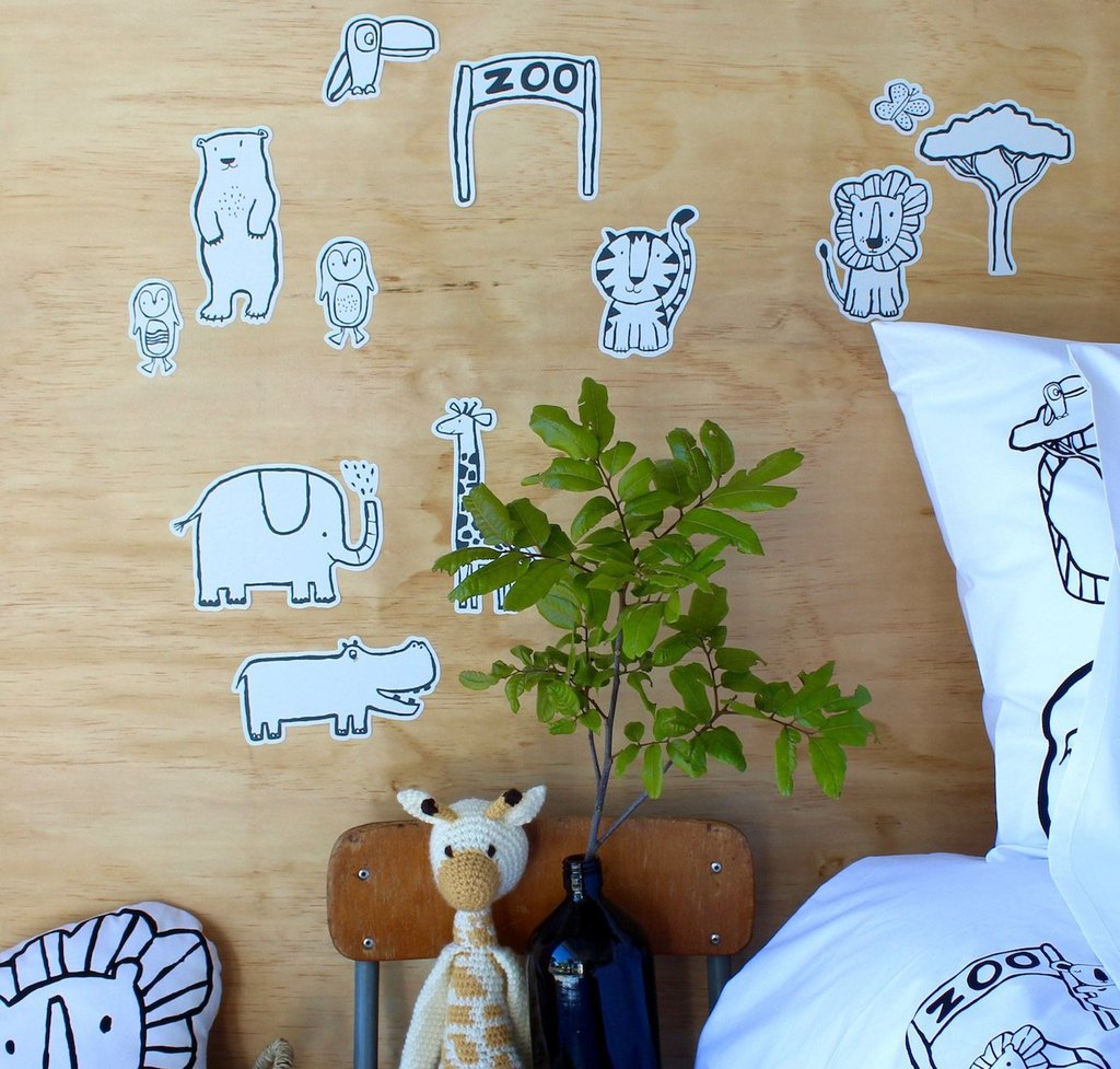 Henry + Co - Zoo World Wall Decals.