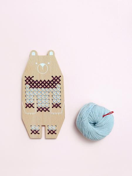 Bear Cross Stitch Friend by Moon Picnic