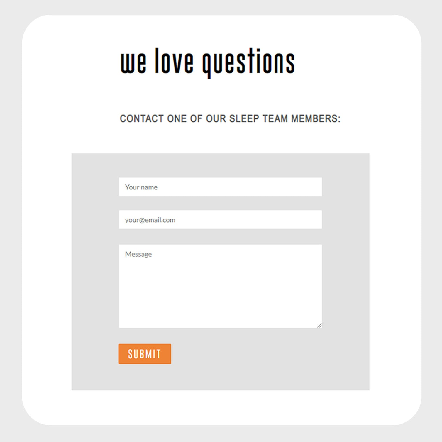 Ask a Question Custom Form and Button