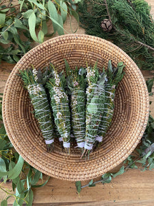 BOTANICAL SMUDGE BUNDLE | CYPRESS + EUCALYPTUS