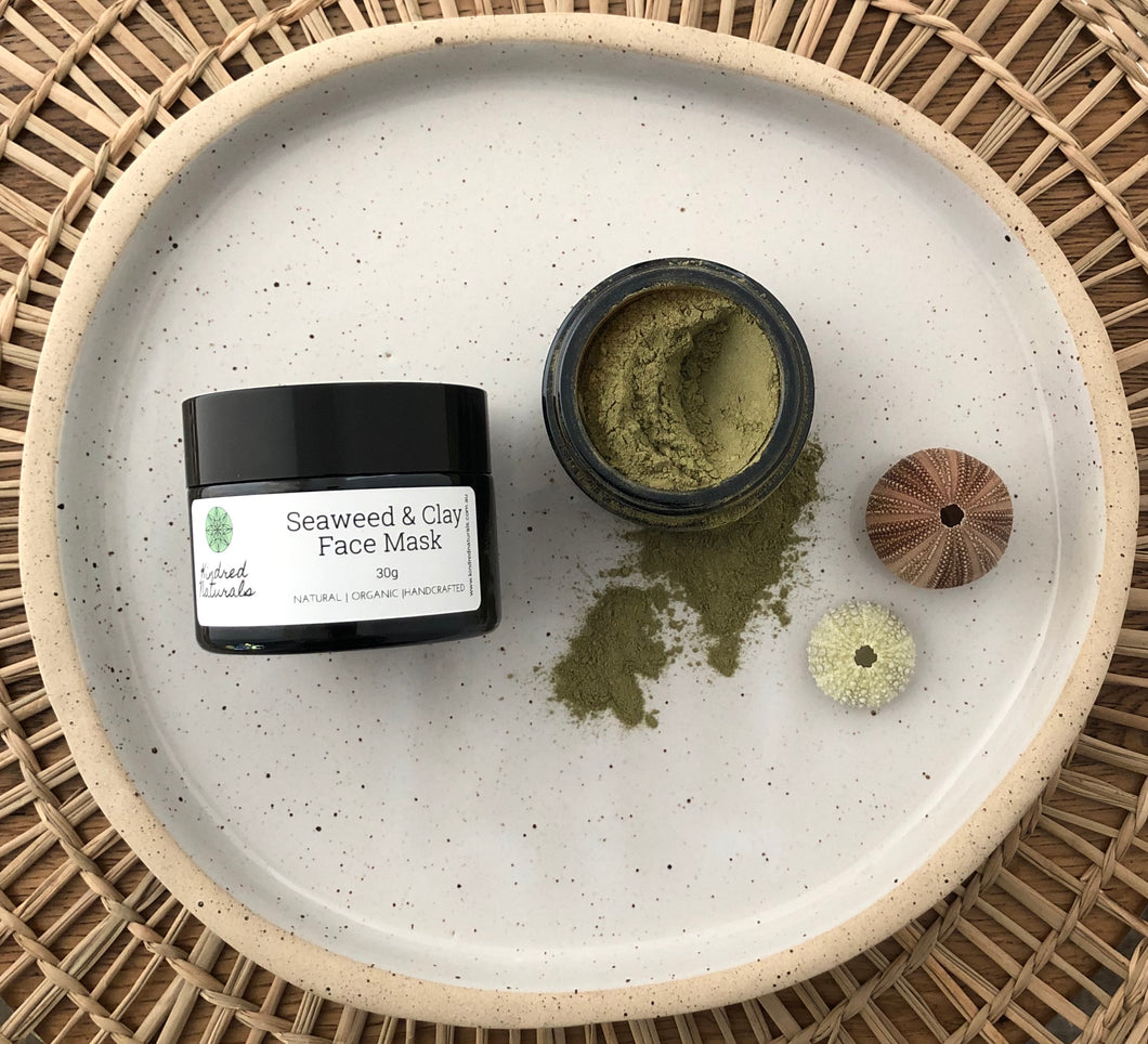 Natural seaweed skincare face mask