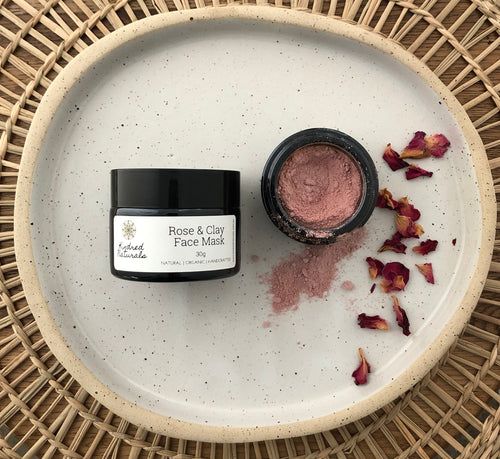 Natural and organic rose and clay face mask