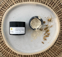 Load image into Gallery viewer, Natural and organic chamomile and clay face mask