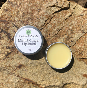 natural organic Australian skincare mint and ginger lip balm