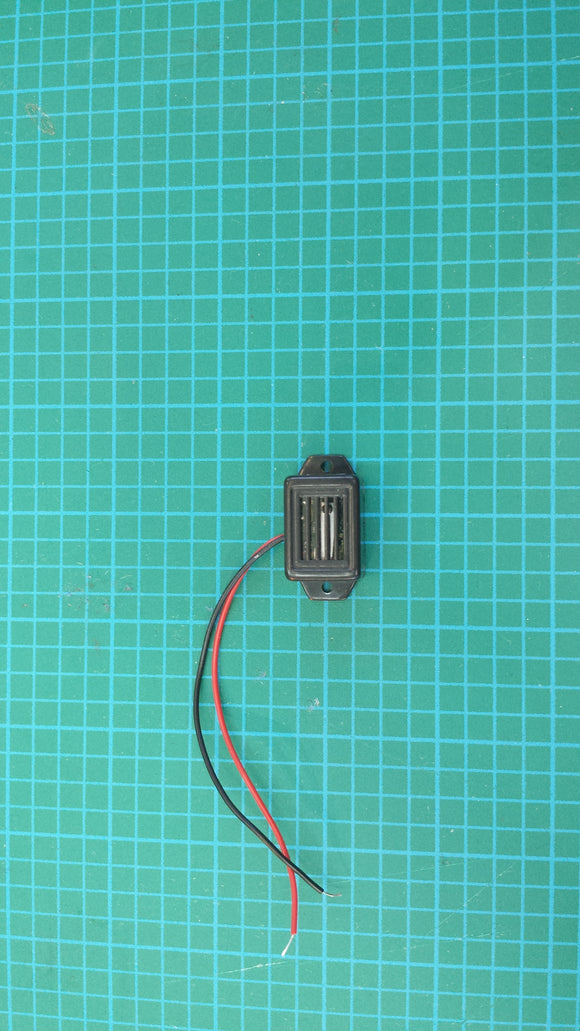 BUZZER RECTANGULAR WITH LEADWIRE