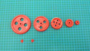 GEARS-MIXED 5 Sizes 10, 20, 30, 40, 50 teeth