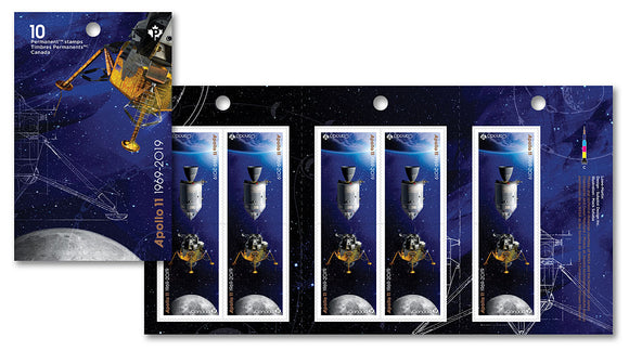 Apollo 11: Permanent Domestic stamps - Booklet of 10