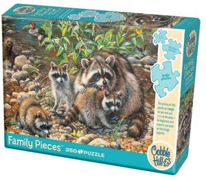 Raccoon Family 350pc Puzzle