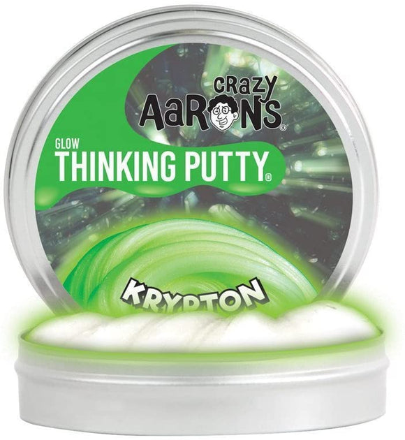 Crazy Aaron's Thinking Putty Glow in the Dark Krypton