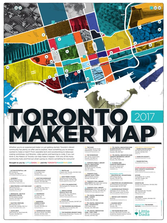 Toronto Maker Map 2017 version