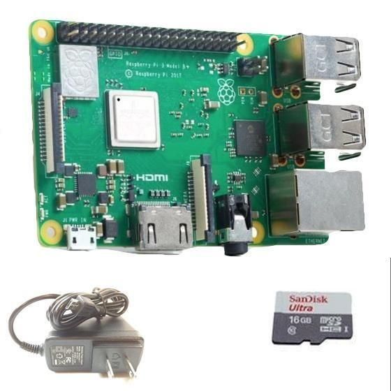 Raspberry Pi 3 with power supply and SD card