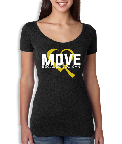 Move Because You Can Logo Scoop Neck - Women's