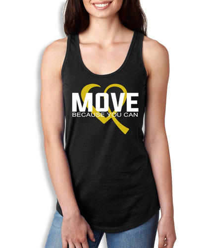 Move Because You Can Logo Tank - Women's